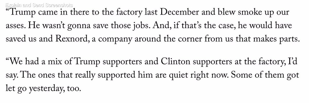 .@charlesbethea reached a worker laid off on Thursday at the Carrier plant Trump said he'd save. https://t.co/aC1eUWl6cE