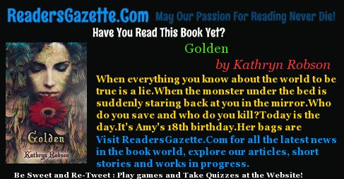 Golden .@YaMysterybooks #Kidlit #Mystery https://t.co/VU5cIGrL8F When everything you know about the world to be true is a li #novels 3