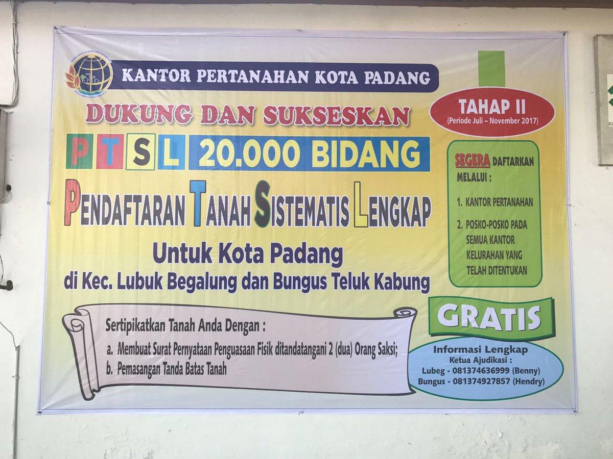 Atr Bpn Padang Atrkotapadang Twitter