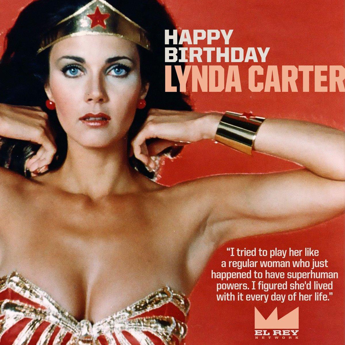 Happy Birthday @RealLyndaCarter from @ElReyNetwork! #LyndaCarter #WonderWoman  #ElderScrolls #Superhero #Acting #TV #Movies #RideWithElRey<br>http://pic.twitter.com/2FtwIqillr