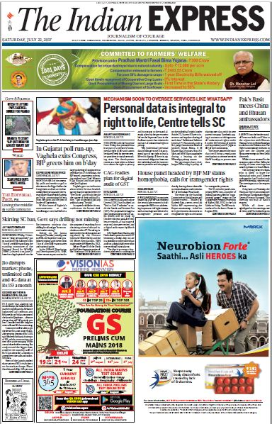 Good Morning. This is the #ExpressFrontPage for today. Read stories at https://t.co/xZtioN4jsO