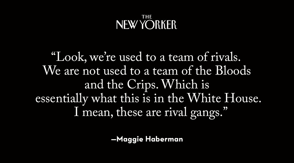 .@maggieNYT talks to David Remnick about covering this chaotic White House:  https://t.co/bL64zqto2S