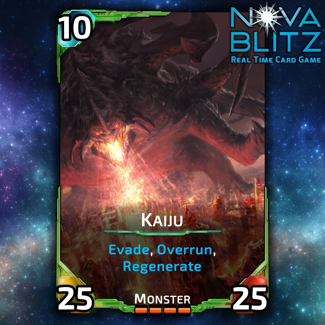 When humongous stats simply aren&#39;t enough… #NovaBlitzCards #gamedev #gameart #monster #indiedev #indiegame #Kaiju #ccg #cards #card #tcg<br>http://pic.twitter.com/ig6GSrbqF7