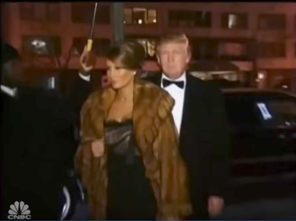 Ironically, right after Scaramucci profile in this, pic of Melania+Donald entering a party appears. Who could've guessed all these yrs later