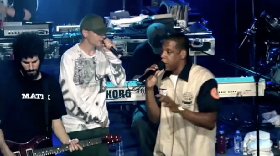 See jay-z and chester bennington perform