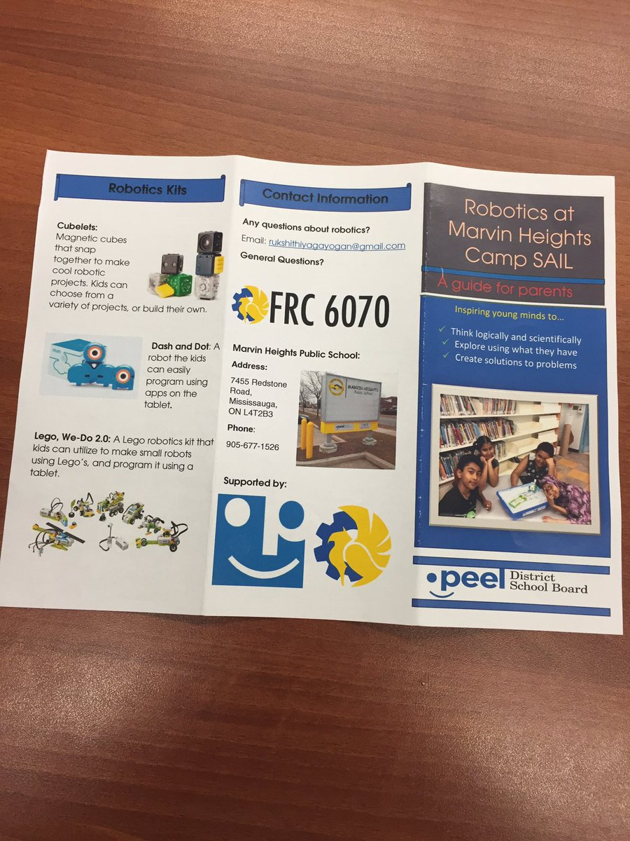 Marvin Height On Twitter Robotics Brochure Created By Ruskhi And