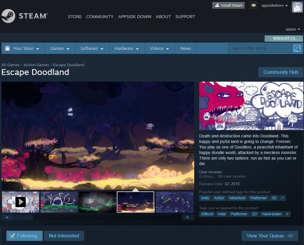 Dear #gamedev At last! @EscapeDoodland is on Steam! (and you can add it to whishlist :) )    http:// store.steampowered.com/app/670930/Esc ape_Doodland/ &nbsp; …  ... by #nautabotnews <br>http://pic.twitter.com/TaOmuS7w4c