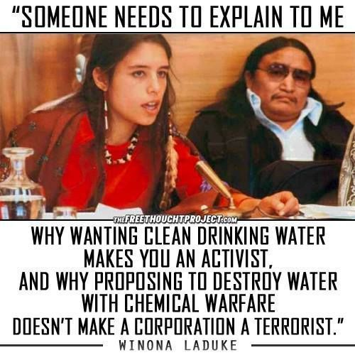 &quot;Someone needs to explain to me why wanting clean drinking water makes you an activist&quot; Winona Laduke   #cdnpoli #stoppipelines #divest <br>http://pic.twitter.com/4GPF9Ry82Z