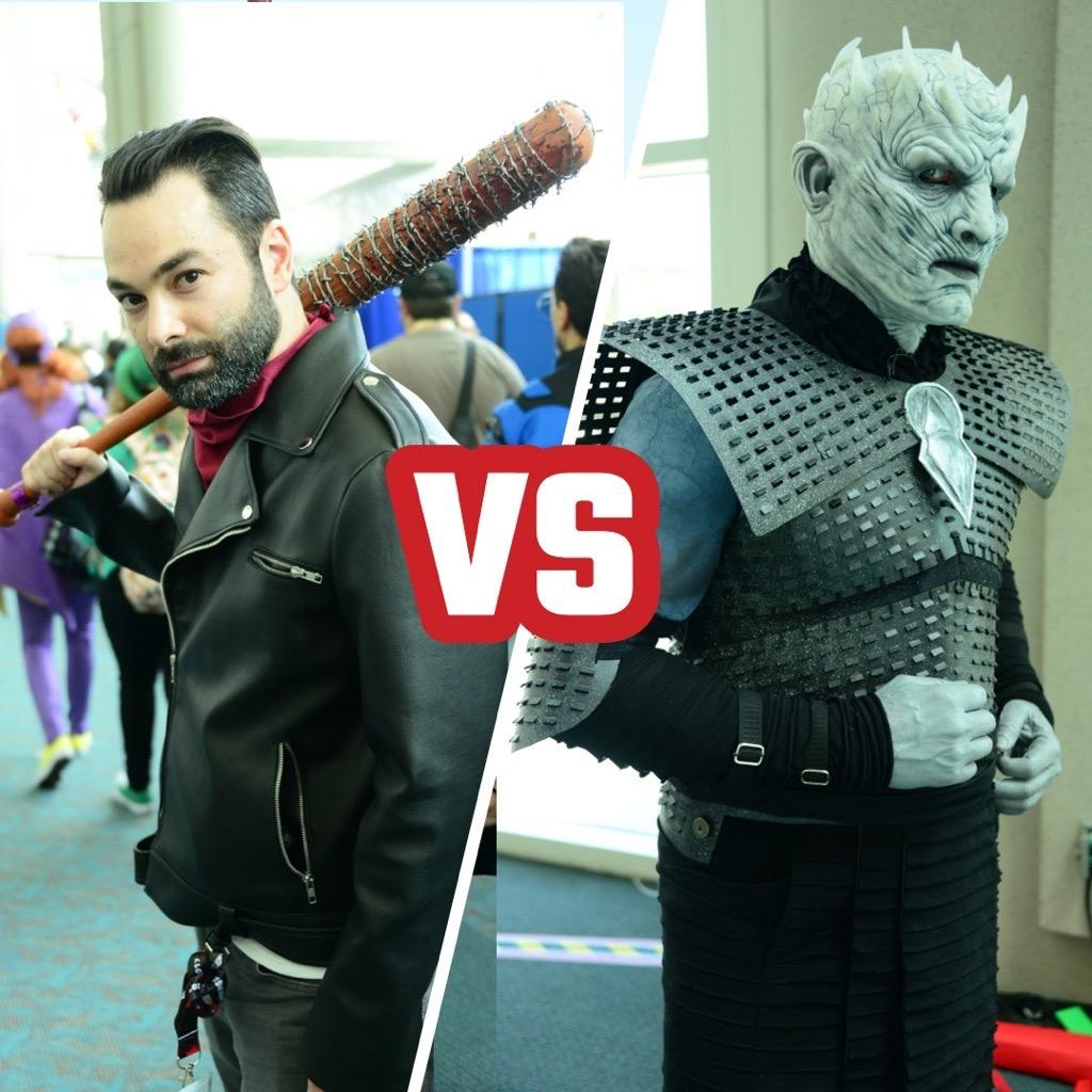 Cosplay battle! #TWD\'s Negan or #GOT\'s Night King?  #SDCC2017