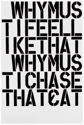"Happy birthday to George Clinton. Check out Christopher Wool\s ""Why\"" which features lyrics"