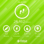 #sixdays @fitbit #goals tomorrow is a rest day