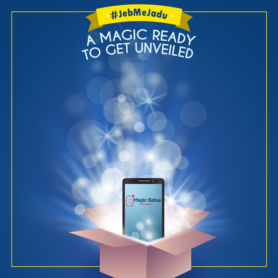 Lets all unveil the magic together.Kya apke #Jebmejadu hai ?#MagicBatua #OnlineRecharge #DigitalWallet #Cashless #CashFree<br>http://pic.twitter.com/X28XoEYoGu