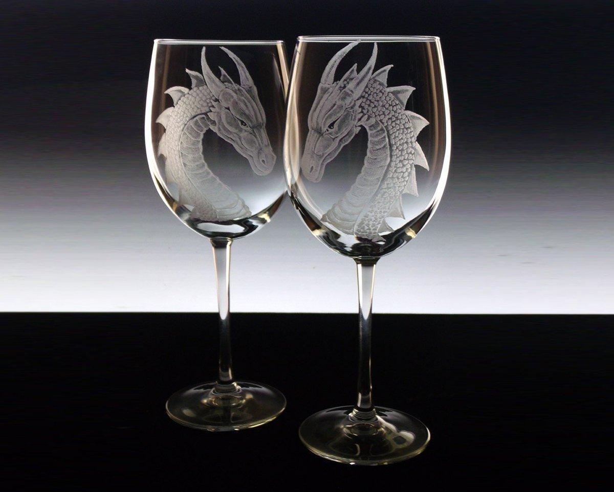 Wedding Glass Set  Dragons custom wine glass set dragons e…  http:// tuppu.net/c0aaa942  &nbsp;   #winelover #GlassGoddessNgraving<br>http://pic.twitter.com/dQJBzBgsRd