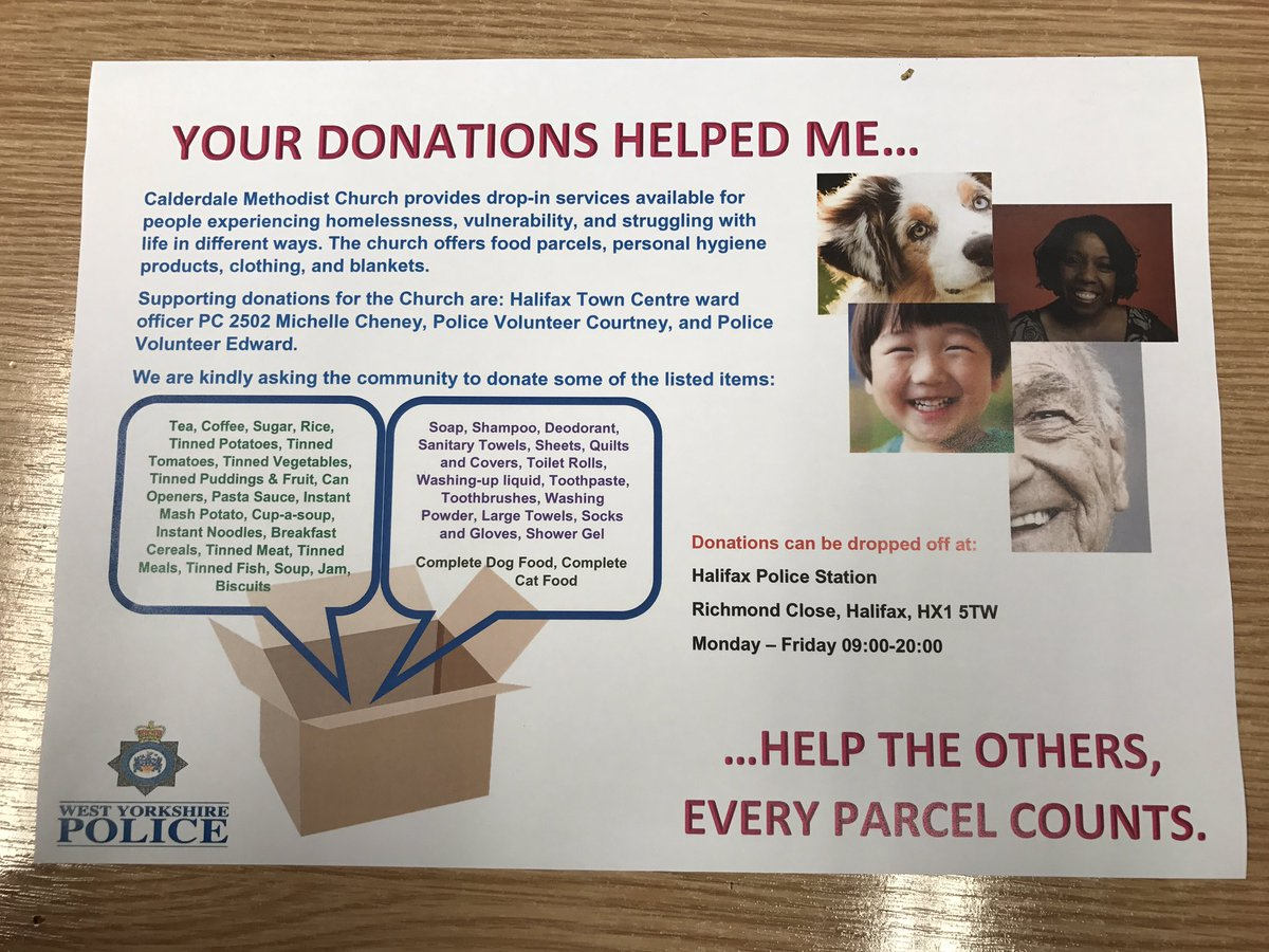 HELP! Donations can be dropped off at Halifax Police Station #homeless #police  @WYP_CDSpecials @WYP_SC7314 @WYP_Halifax @WYP_CldrValleys<br>http://pic.twitter.com/2nfzD1UK7G