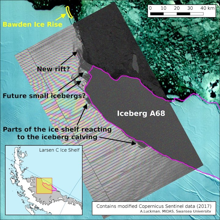 Larsen C iceberg already cracking up; ice shelf further stressed | @ClimateCentral  http:// crwd.fr/2uhWRSr  &nbsp;   #climate #divest <br>http://pic.twitter.com/e5bVVwzdL0