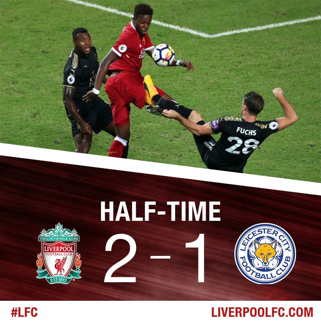 The Reds lead the #PLAsiaTrophy final at the break.