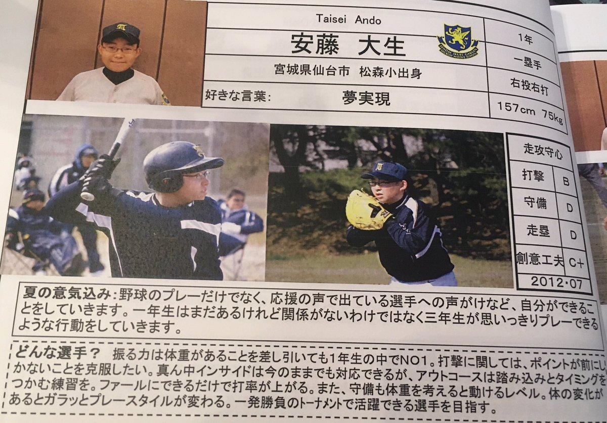 仙台育英野球部  メンバーの出身中学と注目選 …