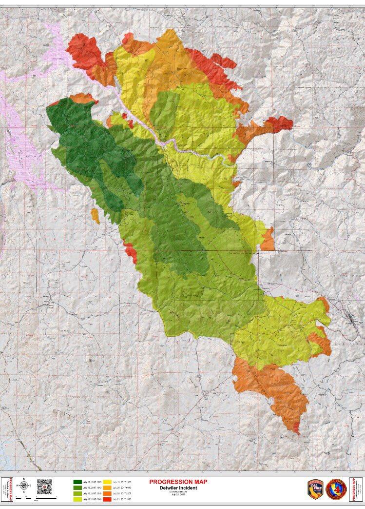 Ciimt1 On Twitter Calfire Detwilerfire Progression Map Showing