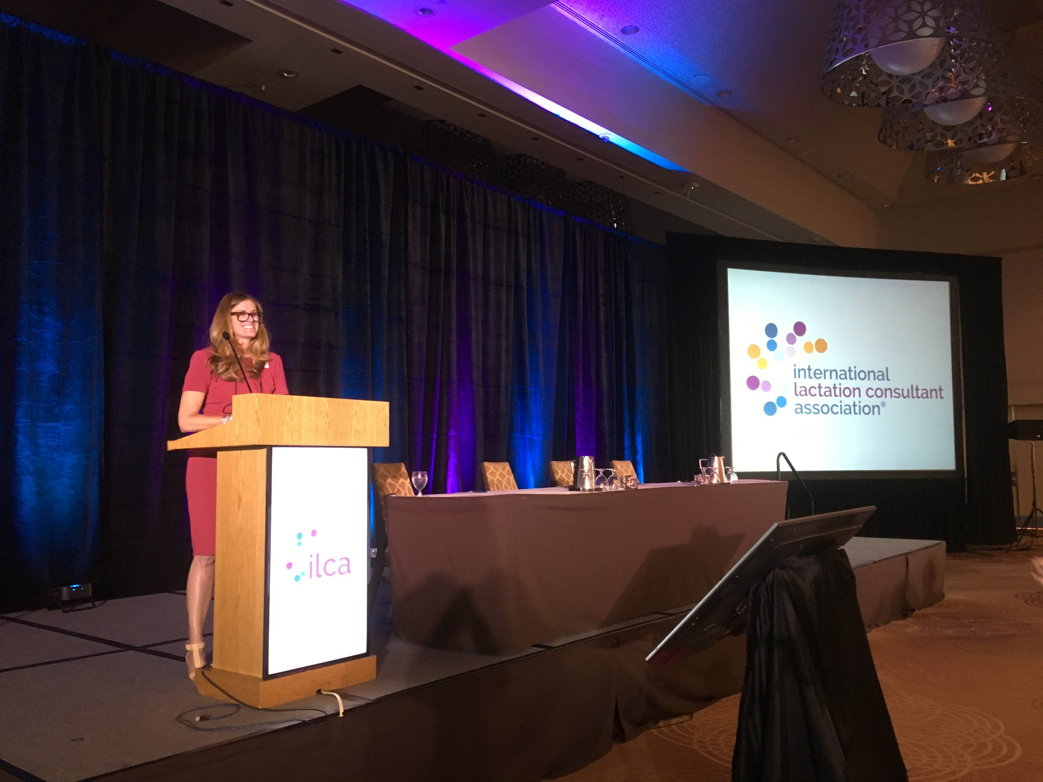 ILCA President Michele Griswold, PhD, MPH, RN, IBCLC, delivers the ILCA president address. #ILCA17 https://t.co/KBH7kw1puk