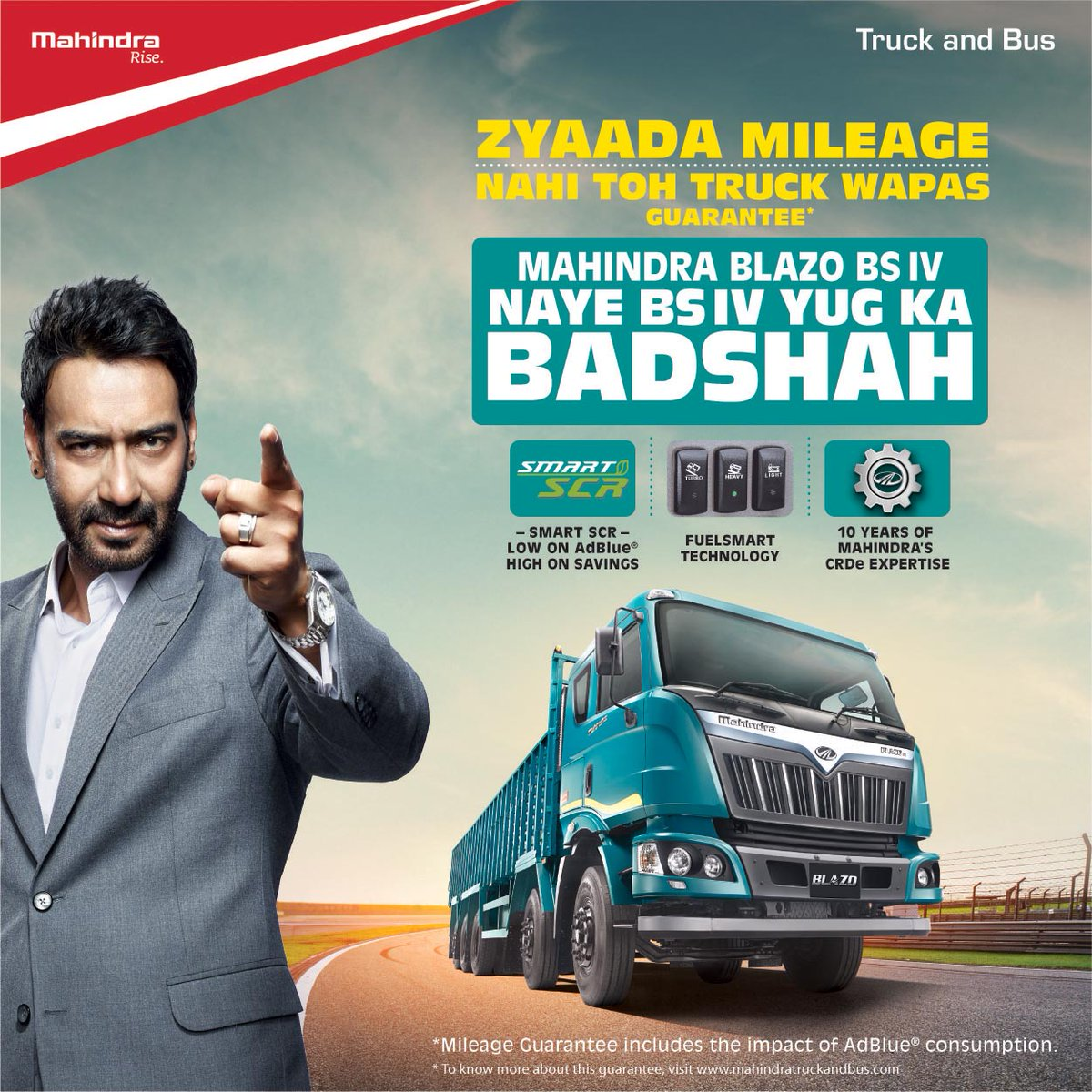 Mahindra #BLAZO maintains its #truck back guarantee even under #BSIV! Easily the Badshah of BS IV? Miss #call 1800 315 7799   @anandmahindra<br>http://pic.twitter.com/l1rsRMiH6g