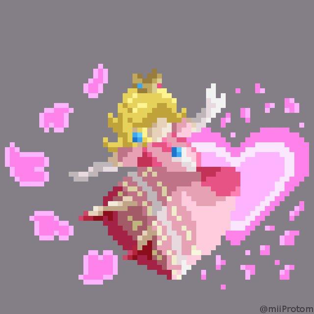 Protom On Twitter Pixel Art Sonic Down Air Peach Side
