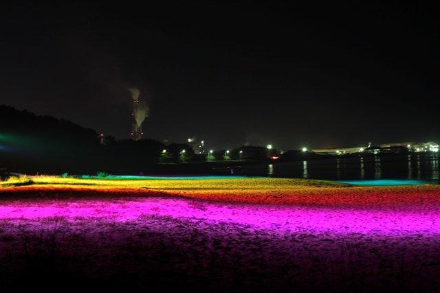 山口県光市の虹ヶ浜 浜辺のライトアップだってー 綺麗かも✨ https://t.co/g16zfSd2Xu