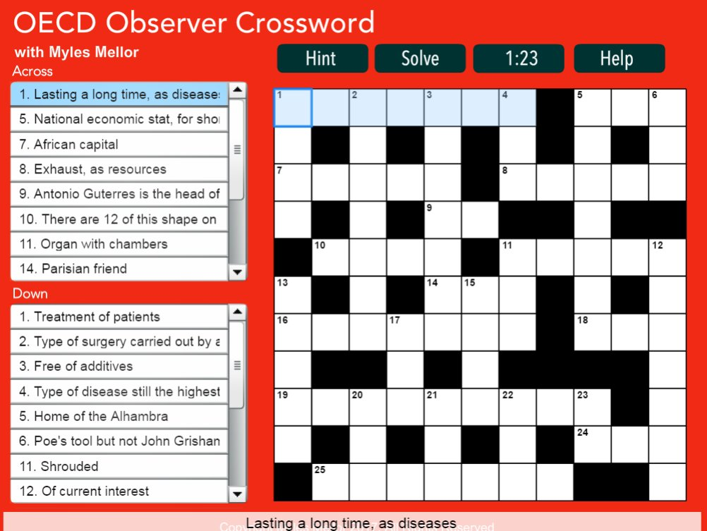 What to do this #weekend? Test your knowledge with the latest #OECD Observer #crossword  http:// bit.ly/2uBW7c1  &nbsp;  <br>http://pic.twitter.com/sXp0LnNVy1