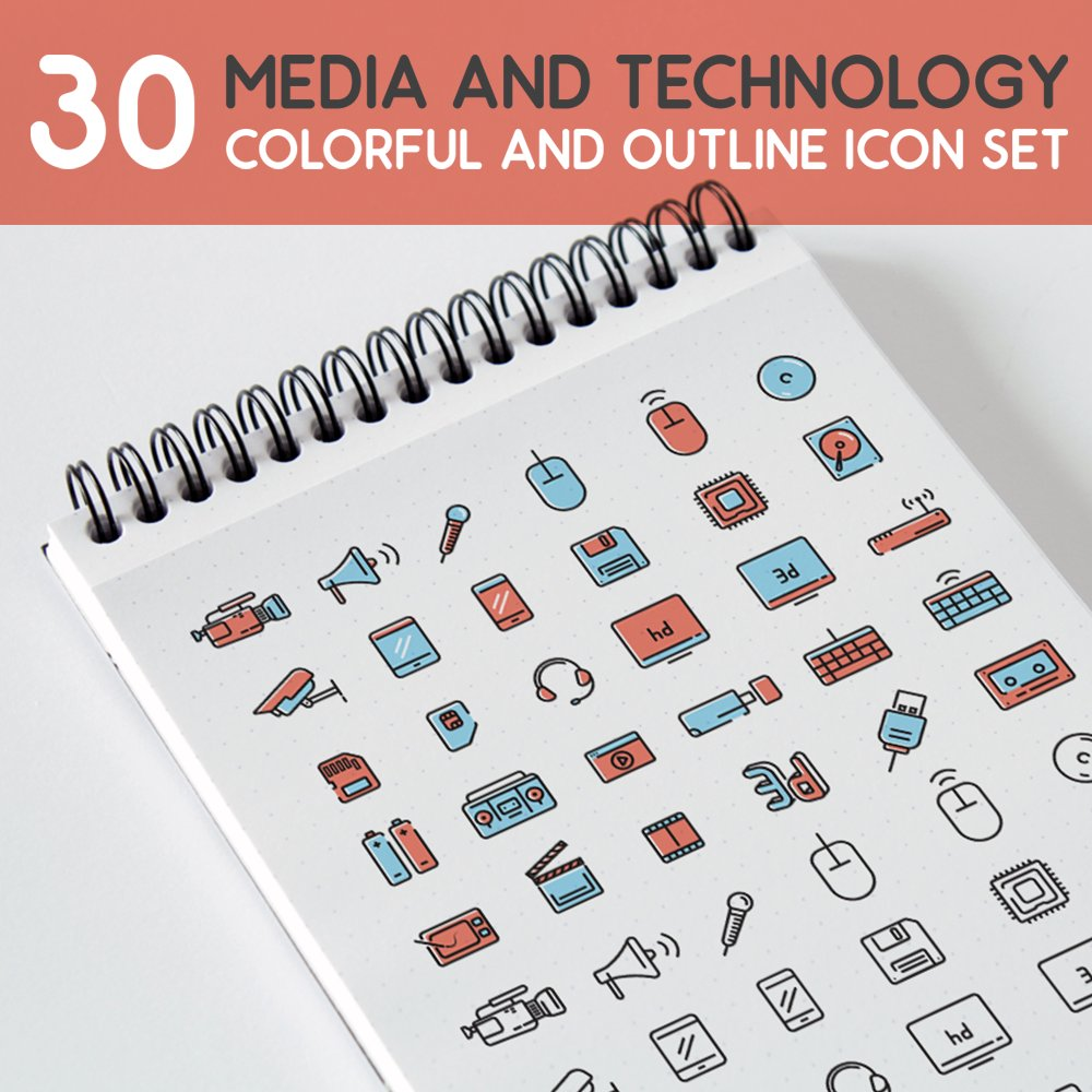 Media and Technology Icon Set #icons #iconography #symbols #vector #design #Outline #colorful #minimal #lineart   https:// creativemarket.com/furkansoyler/1 695917-30-Media-and-Technology-Icon-Set &nbsp; … <br>http://pic.twitter.com/JQ6uD9lTAP