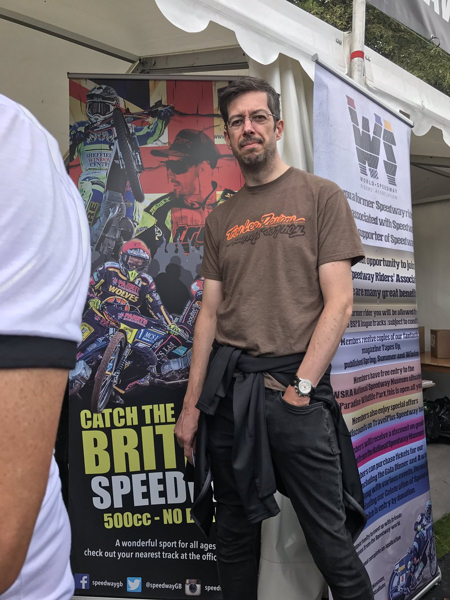 Pleased to be helping the BSPA at Cardiff this weekend @SpeedwayGB @SpeedwayGP #artwork #designs <br>http://pic.twitter.com/P28tQtEQsH