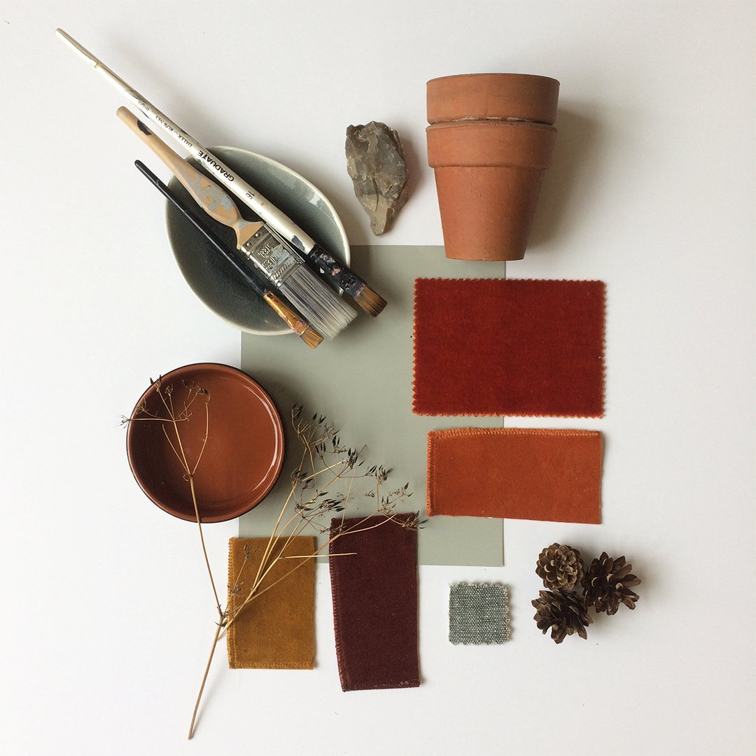 The shoot inspirational story board 2 to tempt you with a palette of #texture and #cosy tones of #terracotta and #stone for your homes.<br>http://pic.twitter.com/8GJ3wXvfRa