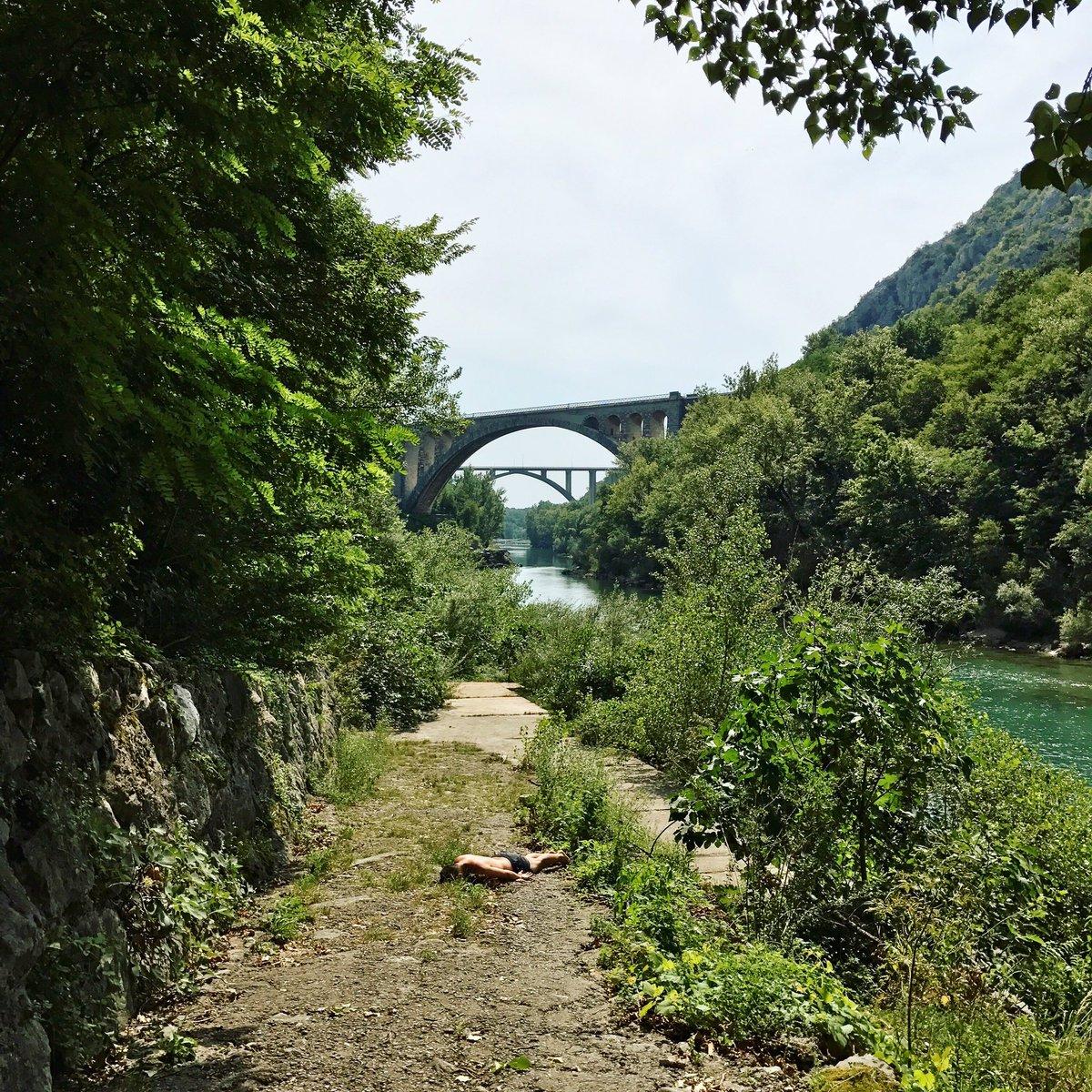 #SolkanskiMost 1900-05 is the longest (#arch span 85 m) #stonebridge among #train bridges built of #stoneblocks. Great #swimming indeed :)pic.twitter.com/ ...