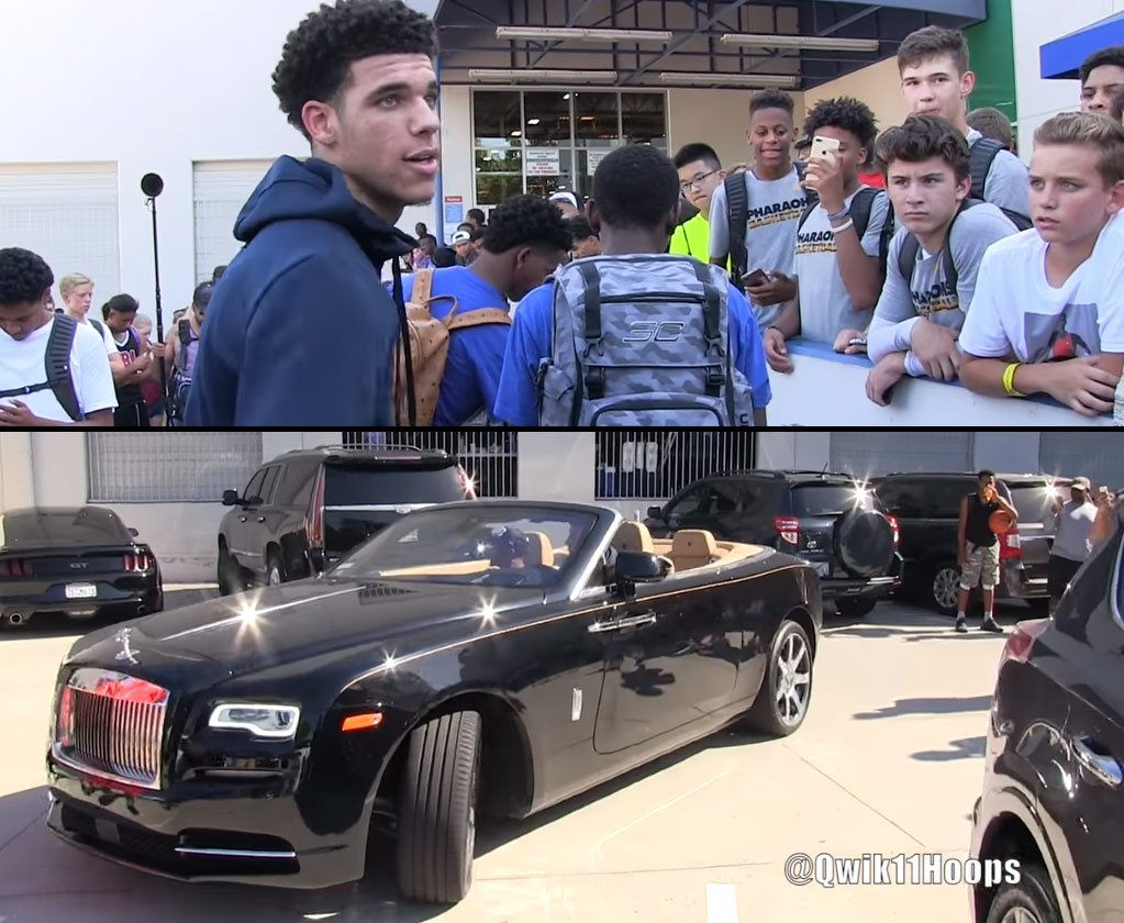 "ballislife on twitter: ""check out lonzo ball's new rolls royce"