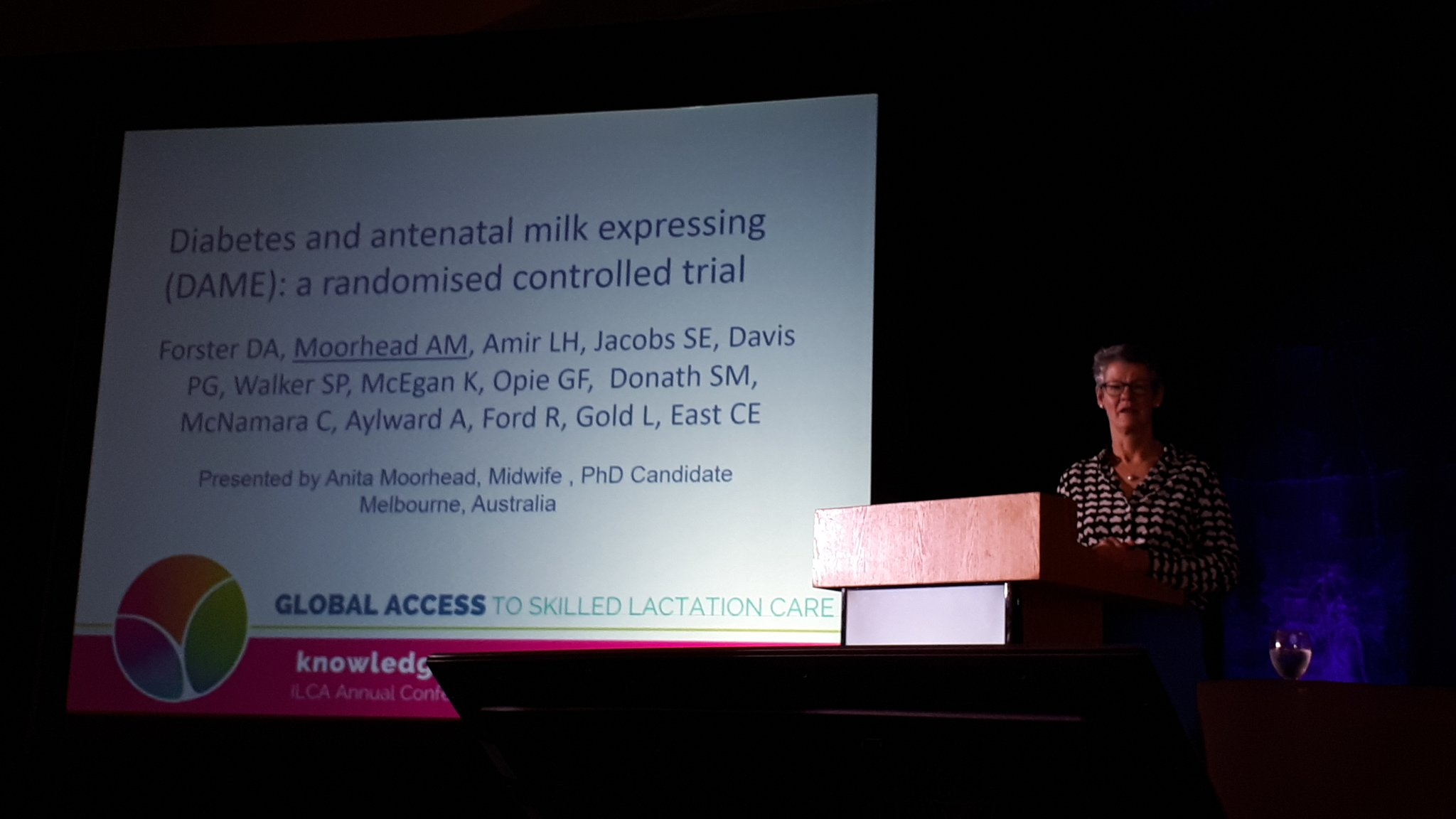 #ILCA17 Anita Moorhead speaks on the DAME trial (Diabetes and antenatal milk expression) -stay tuned for implications for IBCLC practice https://t.co/DaeYlhUQIC
