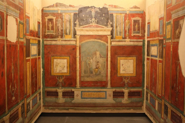 A room from the Villa of the Farnesina, Rome, early 1st century BCE. (Palazzo Massimo, #Rome).  http://www. ancient.eu/image/1240/  &nbsp;   #History <br>http://pic.twitter.com/f4Am5DEYZz