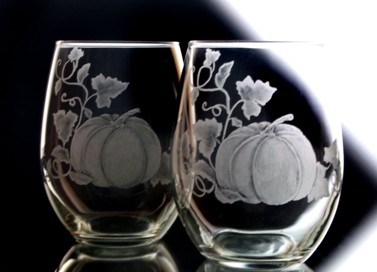 Pumpkin stemless Wine Glasses  , Thanksgiving harvest Table Stemless Wi…  http:// tuppu.net/cc036a9c  &nbsp;   #winelover #wedding<br>http://pic.twitter.com/s88pJmzofV