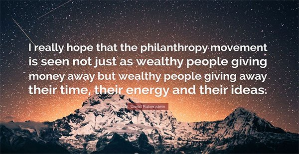 True, but #philanthropy isn&#39;t just for the wealthy. Any of us can give away our time, our energy, and our ideas. <br>http://pic.twitter.com/0N2ppaUTk7