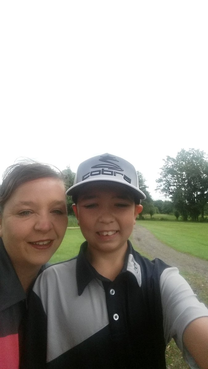 Yet again got beaten by this one out on the course today (45 him me 55) but was great to spend #familytime  <br>http://pic.twitter.com/cSaayQeSlW