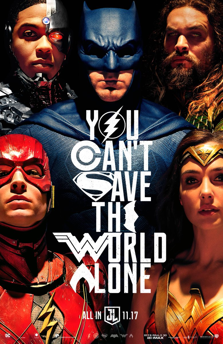 You can't save the world alone. The cast of #JusticeLeague unites in Hall H TODAY. #WBSDCC