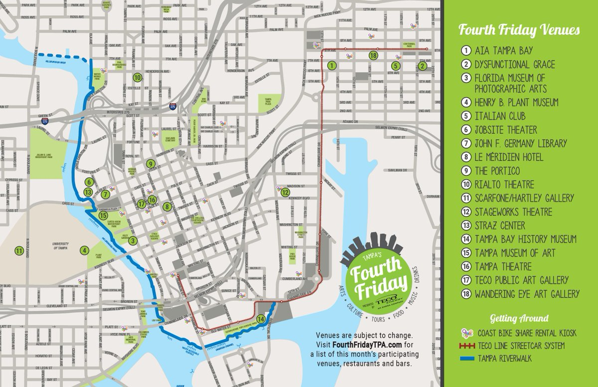 Fourth Friday Tampa on Twitter Map out your FourthFridayTPA