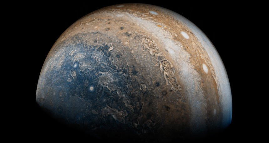 Jupiter from Juno! #ASTRONOMY <br>http://pic.twitter.com/2eP1phFYN4