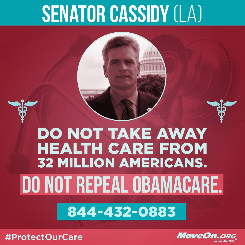 RT: @BillCassidy #RepealAndRun is not up for debate. #KillTheBill & #ProtectOurCare!
