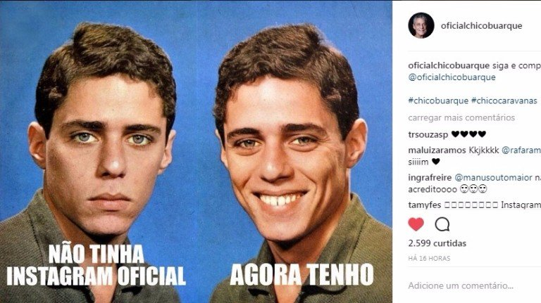 Com meme viral, Chico Buarque anuncia conta no Instagram. https://t.co/yT09h0TwcG