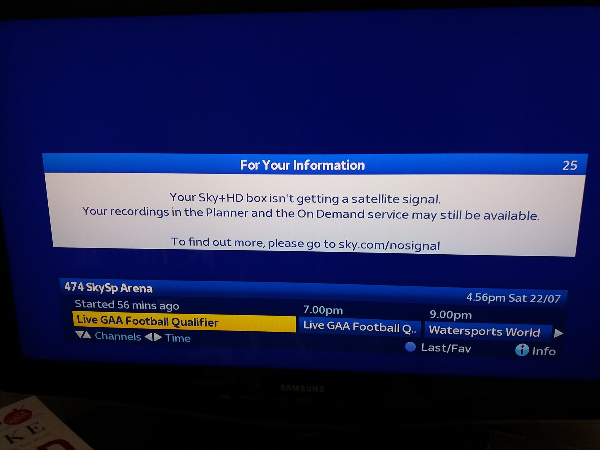 Your Sky Hd Box Isn T Getting A Satellite Signal >> Eamonn Sayers On Twitter Wonder If Anyone Is Watching