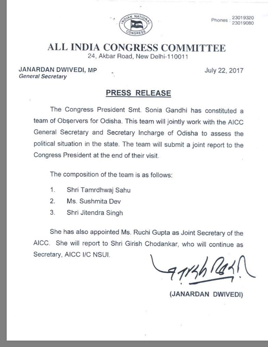 Many Congratulations  all of you #GreatTeam fr ur new assignment, which will take @INCIndia at new Heights  @sushmitadevmp @guptar @nsui<br>http://pic.twitter.com/PHIvqqVglc
