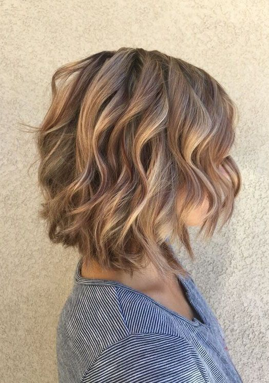 A short layered bob hairstyles