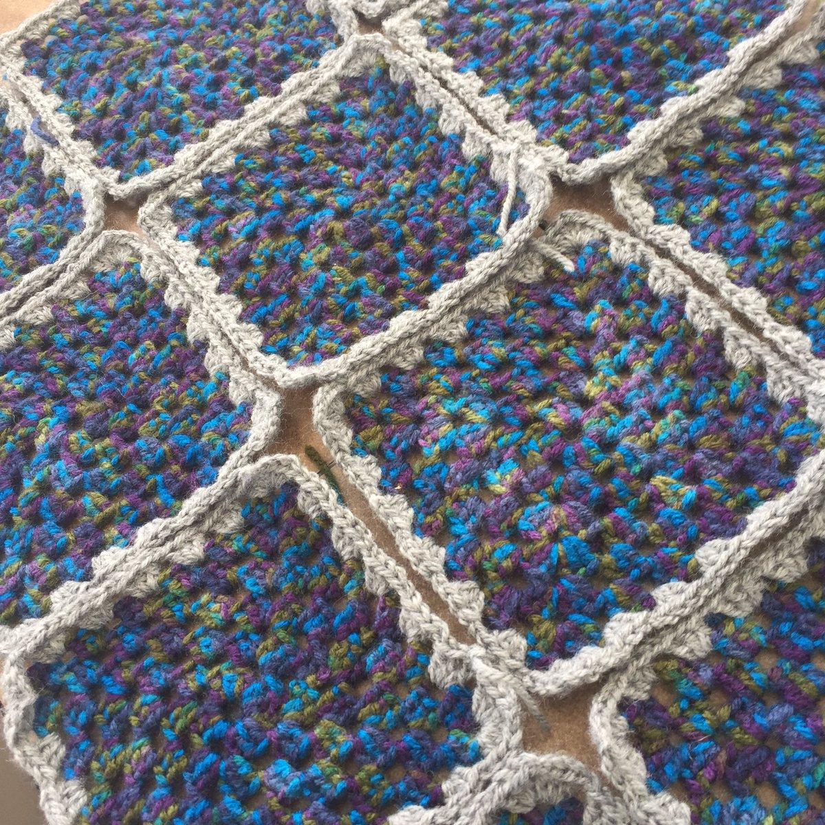 My #blanket is coming along slowly! #crochet<br>http://pic.twitter.com/hoFxnUiU1R