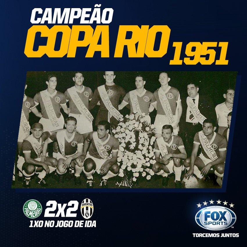 HÁ 66 ANOS, O Palmeiras empatava com a Juventus, da Itália, e conquista a Copa Rio, torneio amistoso, considerado o mundial interclubes.
