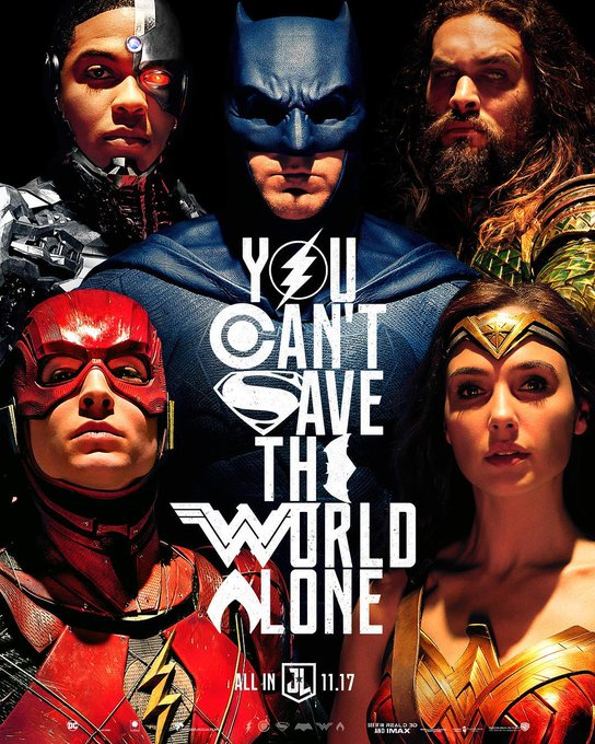 You can't save the world alone ✨❤️ #Repost from @justiceleaguewb #WBSDCC #JusticeLeague https://t.co/9nMifqfgY4