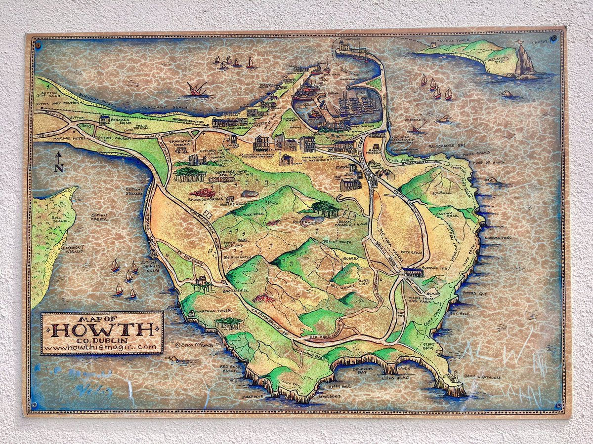 #Howth near #Dublin in #Ireland, what a beautiful place ! #map #cartographie #géographie<br>http://pic.twitter.com/i7R1xxPVd2