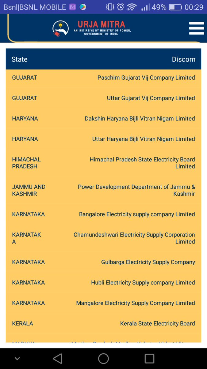 No Jharkhand in Urja Mitra app. Isn&#39;t urja Jharkhands mitra? #Nopower #30hours #Chas #Bokaro @MinOfPower @PiyushGoyalOffc<br>http://pic.twitter.com/u3ln1jQ1NS